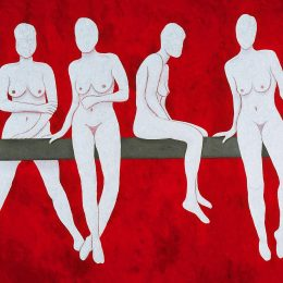 George Mullen, Avenue of Desire, 1998, 48 x 60, oil on canvas. Copyright © George Mullen 1998. All Rights Reserved.