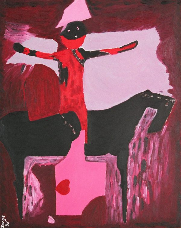 George Mullen, Marini in Red, 1993, oil on canvas, 16