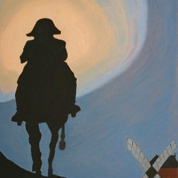 "George Mullen, ""Napoleon on Holiday"", 1993, oil on canvas, 20""x24"""