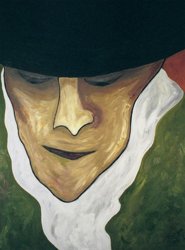 "George Mullen, Sorrow, 1996, oil on canvas, 30""x40"". Copyright © 1996 George Mullen. All rights reserved."