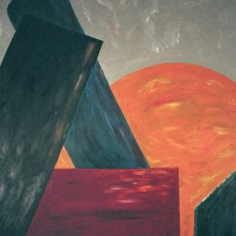 "George Mullen, New York at Dusk, 1996, oil on canvas, 30""x40"". Copyright © 1996 George Mullen. All rights reserved."
