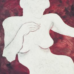 "George Mullen, The Gesture, 1997, oil on canvas, 18""x14""."