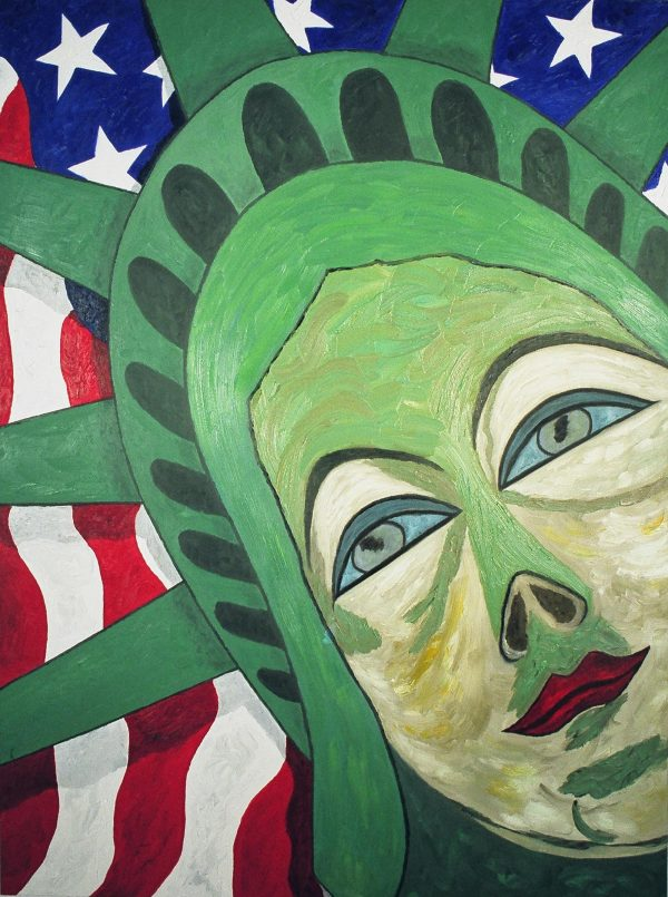 George Mullen, American Woman, 1997, oil on canvas, 48