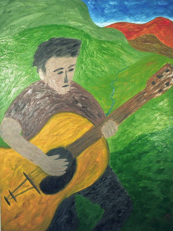 George Mullen, The Lonely Guitarist, 1997, oil on canvas, 40