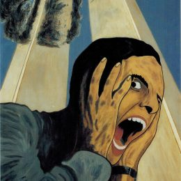 "George Mullen, Sept 11 Art / 911 Art: The American Scream, 2002, 28"" x 22"", oil on canvas. Copyright © 2002 George Mullen. All Rights Reserved. ""Nothing left to paint, nothing left to say...September 11 is an irreversible scar seared upon our collective soul."""