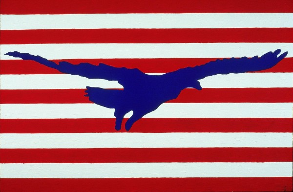 """George Mullen, Sept 11 Art / 911 Art: Freedom Takes Flight, 2001, 24"""" x 36"""", oil on canvas. Copyright © 2001 George Mullen. All Rights Reserved."""
