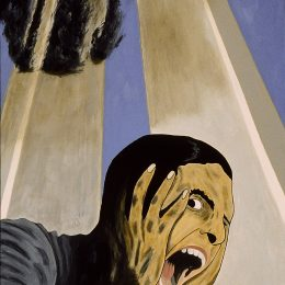 "George Mullen, Sept 11 Art / 911 Art: The Endless American Scream, 2002, 48"" x 30"", oil on canvas. Copyright © 2002 George Mullen. All Rights Reserved. ""Nothing left to paint, nothing left to say...September 11 is an irreversible scar seared upon our collective soul."""